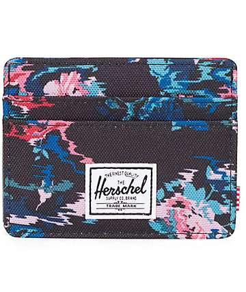 Herschel Supply Charlie Floral Blur Cardholder Wallet