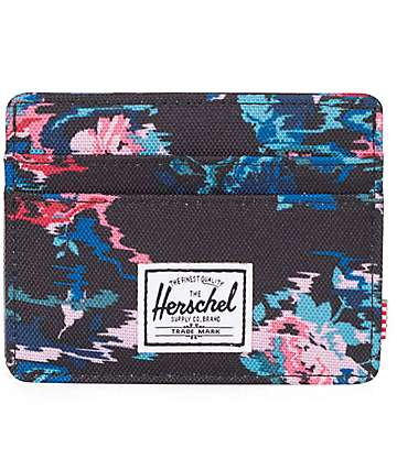Herschel Supply Charlie Floral Blur tarjetero