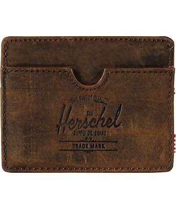 Herschel Supply Charlie Nubuck Leather Cardholder Wallet