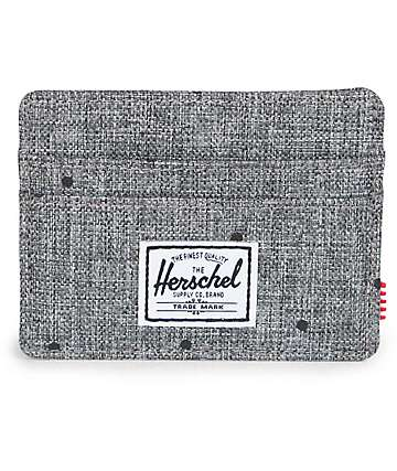 Herschel Supply Charlie Scattered Raven Crosshatch Wallet