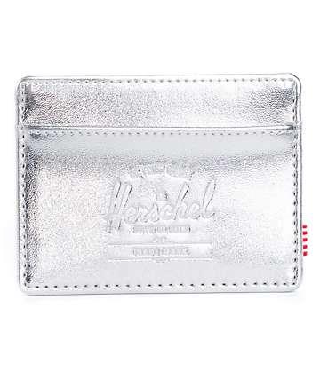 Herschel Supply Charlie Silver Metallic Cardholder Walelt