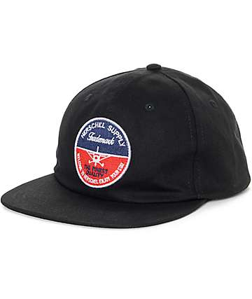 Herschel Supply Co 172 Black Six Panel Hat