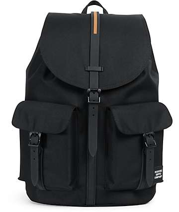 Herschel Supply Co Dawson Black & Gum Rubber 20.5L Rucksack Backpack