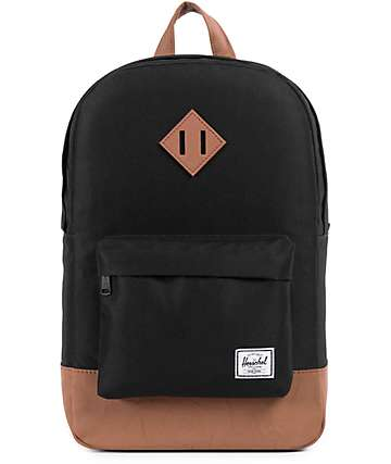 Herschel Supply Co Heritage Mid 600D Black Backpack