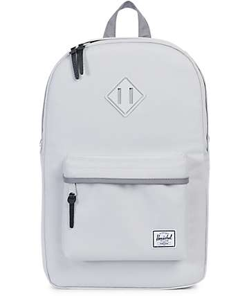 Herschel Supply Co Heritage Mid Lunar & Grey Rubber Backpack