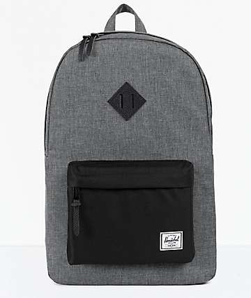 Herschel Supply Co Heritage Raven Cross Hatch Backpack