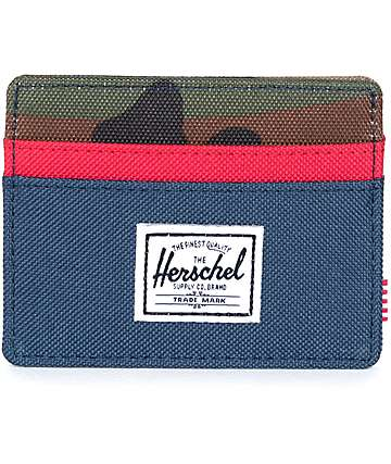 Herschel Supply Co. Charlie Woodland Camo Cardholder