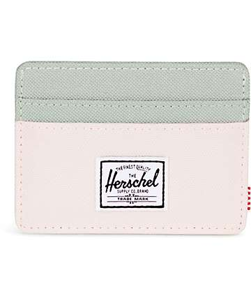 Herschel Supply Co. Charlie tarjetero en rosa y gris