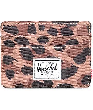 Herschel Supply Co. Charlie tarjetero patrón leopardo