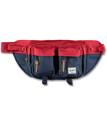 Herschel Supply Co. Eighteen Navy & Red Fanny Pack