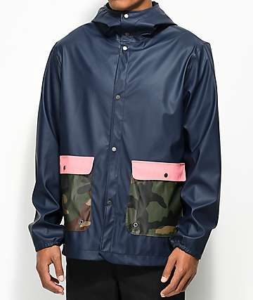 Herschel Supply Co. Forecast Navy, Pink & Camo Parka Jacket