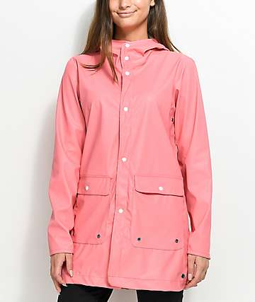 Herschel Supply Co. Forecast Strawberry Ice chaqueta impermeable en rosa