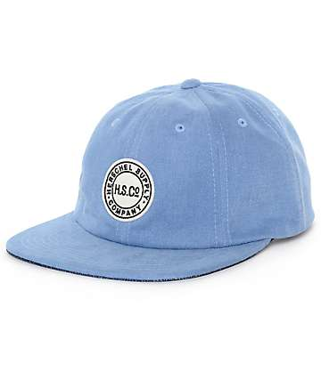 Herschel Supply Co. Glenwood Light Wash Denim Blue Strapback Hat