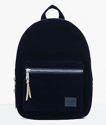 Herschel Supply Co. Grove XS Peacoat Velvet Mini Backpack