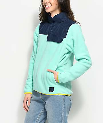 Herschel Supply Co. Guide Lucite Green Pullover Fleece