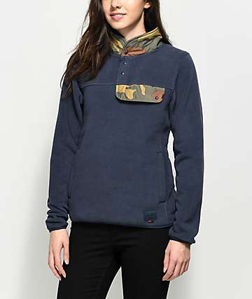 Herschel Supply Co. Guide Peacoat Blue Pullover Fleece