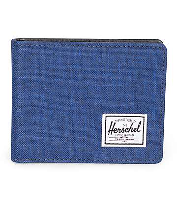 Herschel Supply Co. Hank 2 cartera plegable en azul marino tejido
