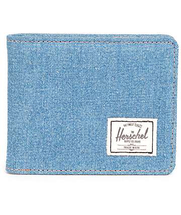 Herschel Supply Co. Hank Denim & Leather Bi Fold Wallet