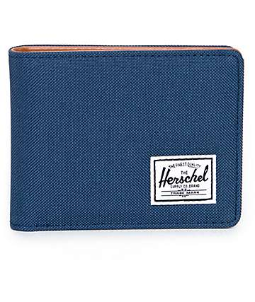 Herschel Supply Co. Hank cartera plegable en azul marino y marrón