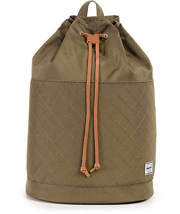 Herschel Supply Co. Hanson Quilted Poly Olive 17L Backpack