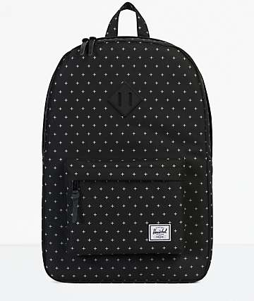 Herschel Supply Co. Heritage Black Gridlock 21.5L mochila