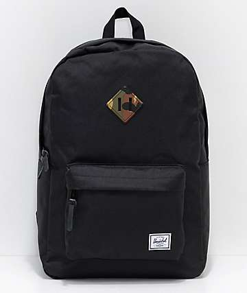 Herschel Supply Co. Heritage Black Woodland Camo 21.5L Backpack