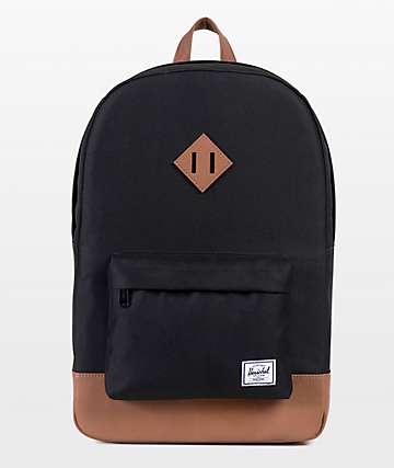 Herschel Supply Co. Heritage Mid Black & Tan Backpack