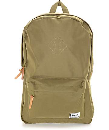 Herschel Supply Co. Heritage Quilted Poly Olive 20L Backpack