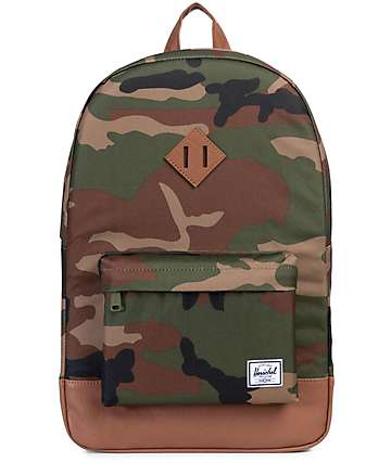 Herschel Supply Co. Heritage Woodland Camo & Tan Backpack
