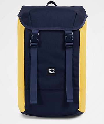 Herschel Supply Co. Iona Peacoat Blue & Cyber Yellow 24L Backpack
