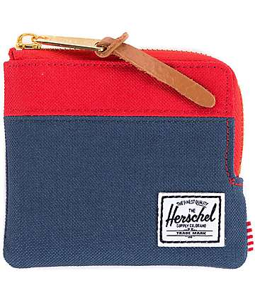 Herschel Supply Co. Johnny Navy & Red Zip Pouch Wallet