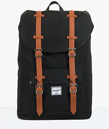 Herschel Supply Co. Little America Black 11L Mid-Volume Backpack