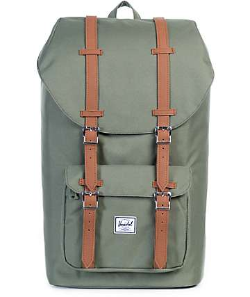 Herschel Supply Co. Little America Deep Lichen Green 25L Backpack