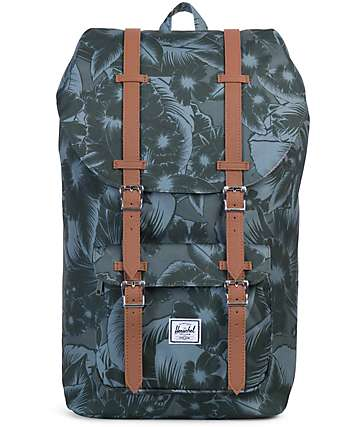 Herschel Supply Co. Little America Jungle Green Mid 17L Backpack