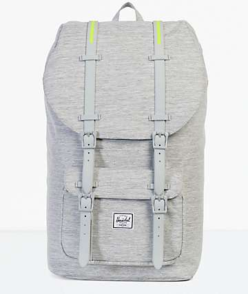 Herschel Supply Co. Little America Light Grey Crosshatch 25L Backpack