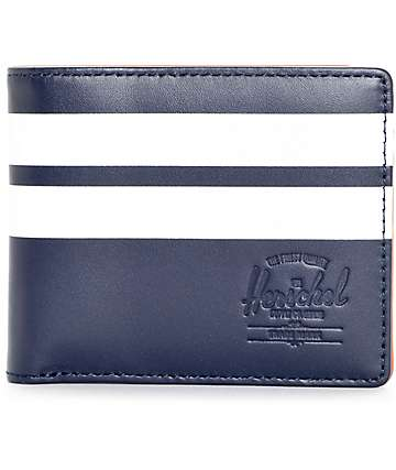 Herschel Supply Co. Peacoat Offset Leather Bi Fold Wallet