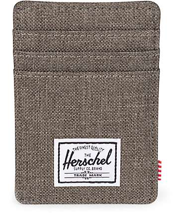 Herschel Supply Co. Raven Canteen Crosshatch Cardholder Moneyclip Wallet