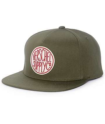 Herschel Supply Co. Scope Army Green Snapback Hat