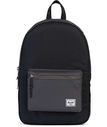Herschel Supply Co. Settlement Black & Charcoal 23L Backpack