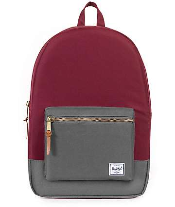 Herschel Supply Co. Settlement Windsor Wine & Grey 17L Backpack