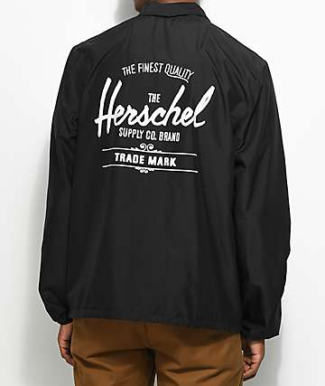 Herschel Supply Co. Voyage Black & White Coaches Jacket
