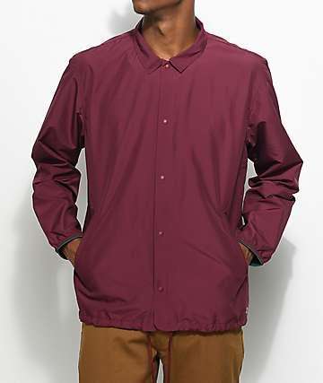Herschel Supply Co. Voyage chaqueta entrenador en color vino