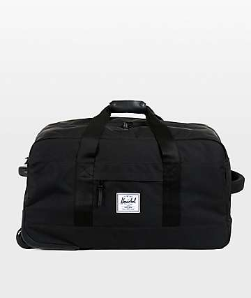 Herschel Supply Co. Wheelie Outfitter Black Roller Bag