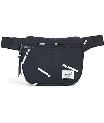 Herschel Supply Fifteen Black Code Fanny Pack