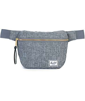 Herschel Supply Fifteen Poly Raven X Hatch Grey 2L Fanny Pack