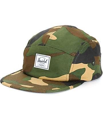 Herschel Supply Glendale Woodland Camo 5 Panel Hat