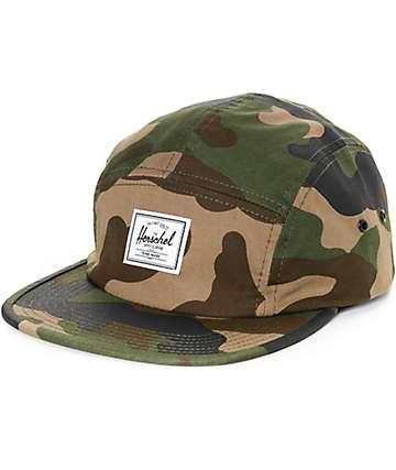 Herschel Supply Glendale Woodland Camo gorra de cinco paneles