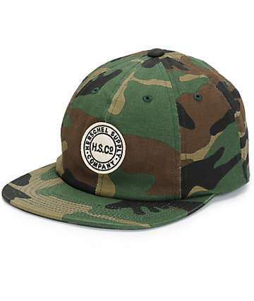 Herschel Supply Glenwood Woodland Camo Strapback Hat