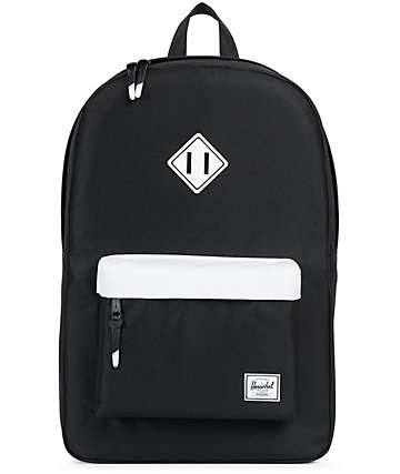 Herschel Supply Heritage Black & White 21.5L Backpack