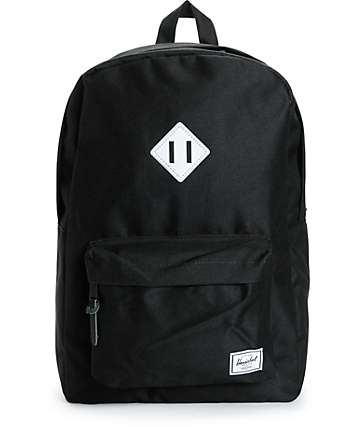 Herschel Supply Heritage Black 3M Reflective 20L Backpack